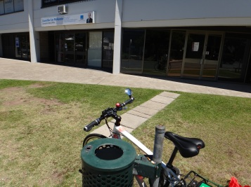 The Coorparoo Ward office on Logan Rd is not easy to access by active transport, and there's really nowhere to lock a bike