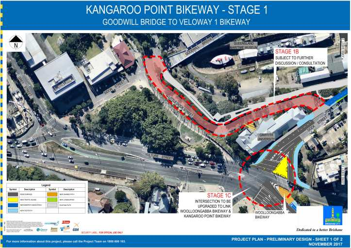 BKWY - 402 - PROJECT PLAN - KANGAROO POINT BIKEWAY - SHEET 1 of 2-1