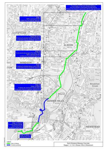 North Brisbane Bikeway Overview August 2015