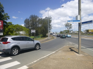 Slip lane from Beaudesert Rd to Riawena Rd