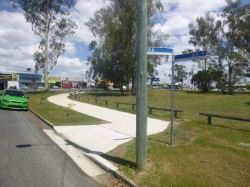 Salisbury St, Rocklea. You have to suspect the person who designed this has never ridden a bicycle.