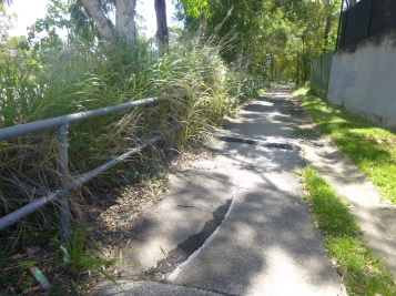 Cracked and broken sections of Salisbury Bikeway.