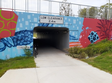 The underpass beneath Depot Rd