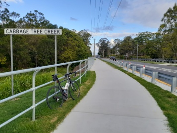 New Bridge across Cabbage Tree Creek at the start of the bikeway