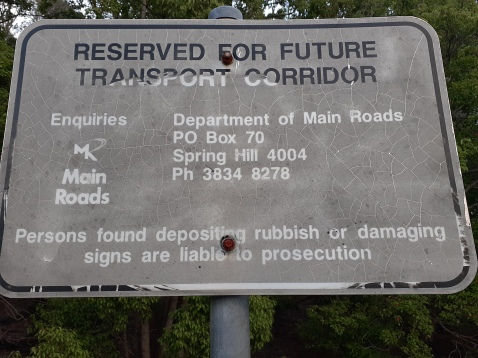 Trouts Road - and the bushland corridor could become an urban freeway in future :(