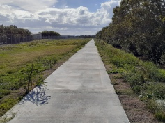 The new path parallels Lomandra Drive, but is incomplete