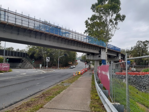 Veloway Stage E over the Gaza Rd off-ramp will be open mid 2020