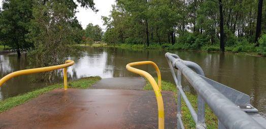 FloodedSalisburyBikeway