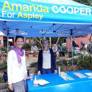Belinda with Amanda Cooper