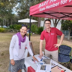 Belinda with Bart Mellish MP